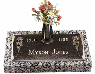 Bronze Headstone, Single Gravestone, www.burlesonmonuments.com