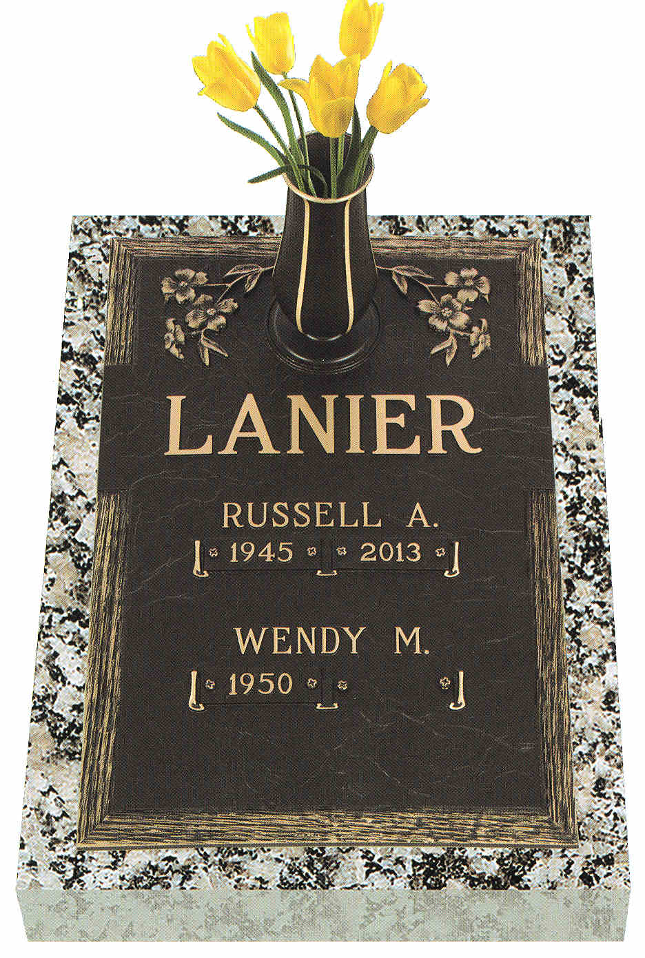 Burleson Monuments, Double Interment Grave Marker Designs, www.burlesonmonuments.com