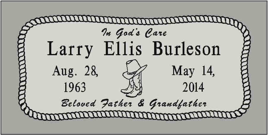Burleson Monuments, Granite Grave Markers, www.burlesonmonuments.com